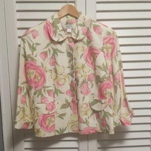 Ann Taylor Loft Light Floral Blazer Size 6 Petite
